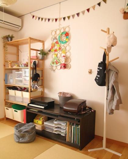 IKEAのアイテムを使用したおもちゃ収納48