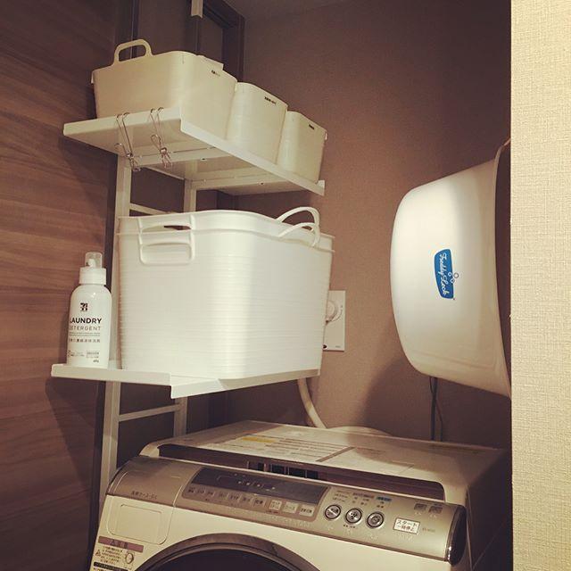 洗濯機上のラックアイデア実例集6