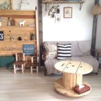 家具としてリサイクルできる!ケーブルドラムを活用した味わいのある空間