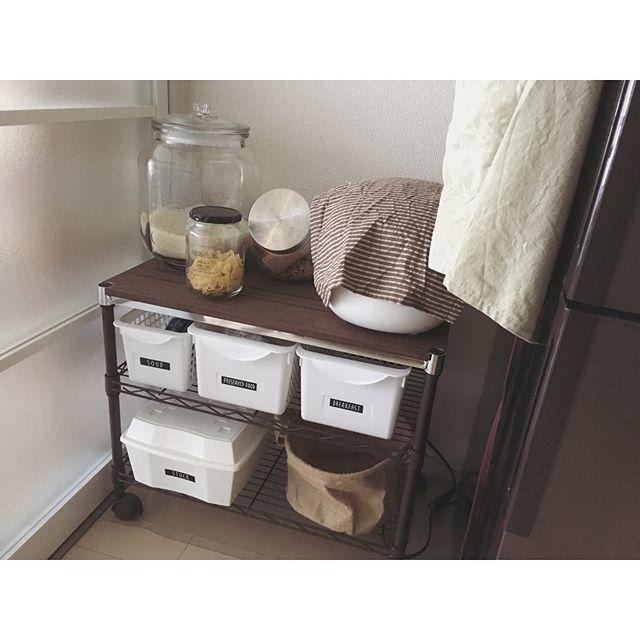 一人暮らし キッチン収納14