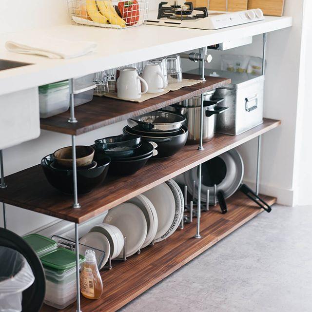 一人暮らし キッチン収納13