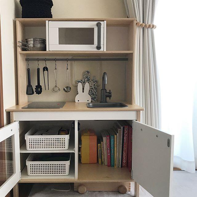 IKEAのアイテムを使用したおもちゃ収納20