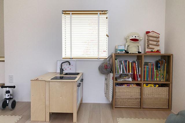 IKEAのアイテムを使用したおもちゃ収納19