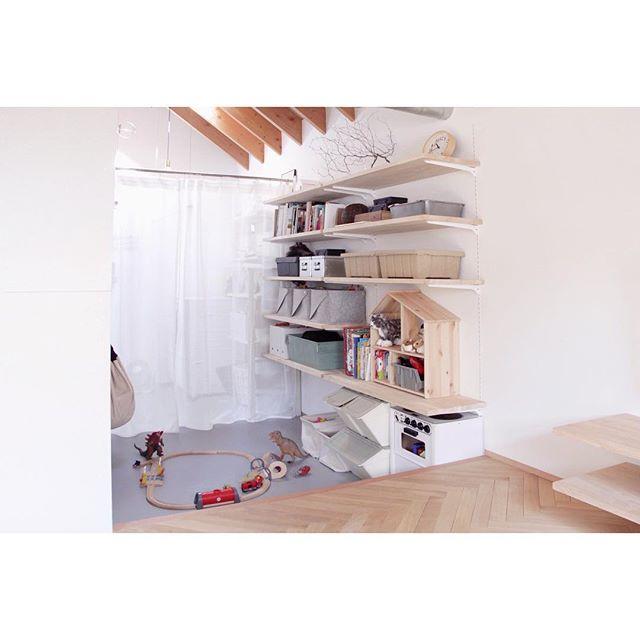 IKEAのアイテムを使用したおもちゃ収納47