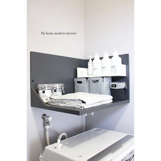 洗濯機上のラックアイデア実例集3