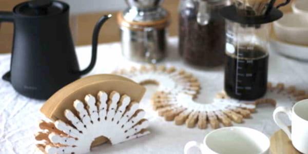 【連載】100均ウッドクリップを使って簡単コーヒーフィルタースタンドをDIY!