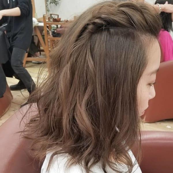 ミディアムの前髪なしのアレンジ5