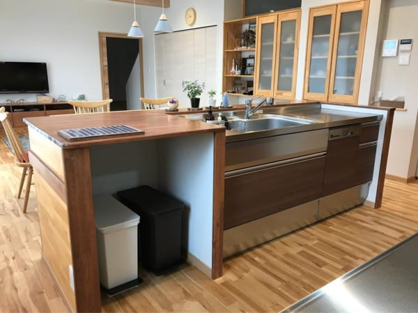 ステンレスキッチン 木材5