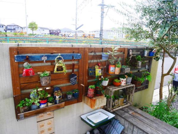 ガーデンフェンスでディスプレイ&収納