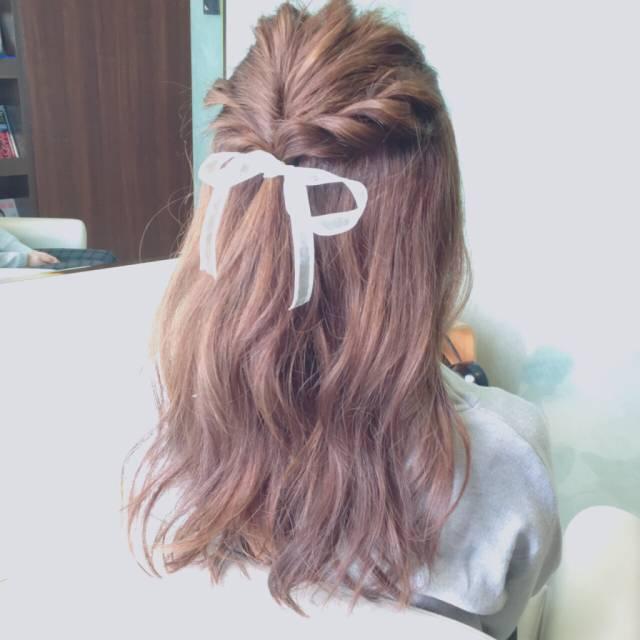 ミディアムのヘアアレンジ12