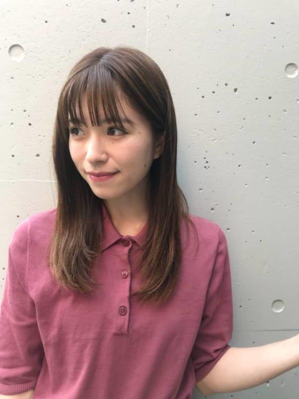 オフィスにも合う前髪ぱっつんスタイル10