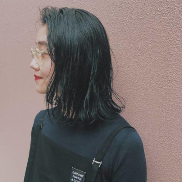 長めボブのおしゃれなヘアスタイル29