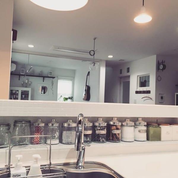 キッチン おしゃれ 棚収納6