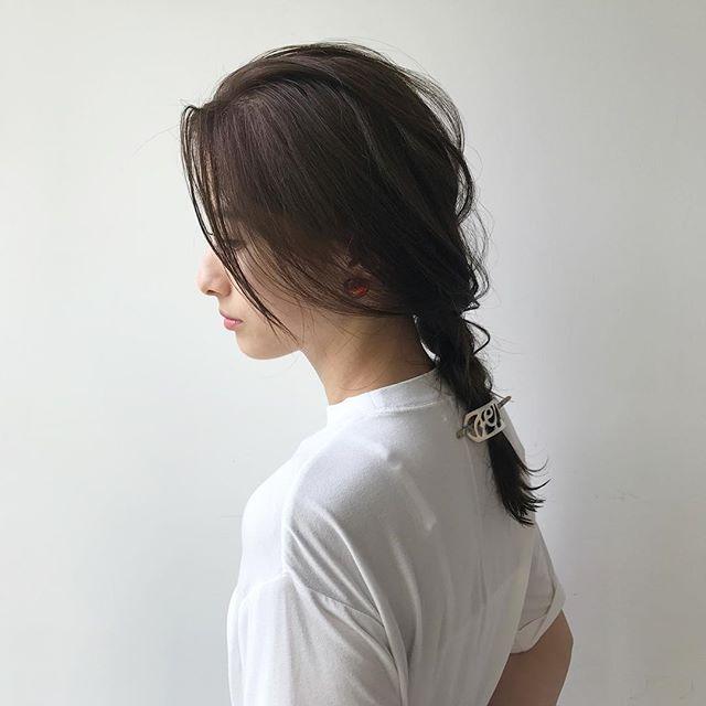 ロングストレートだからできる和装に似合う髪形