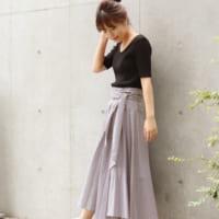 ベーシックカラーなハイウエストスカートで作る♡大人女性コーデ特集