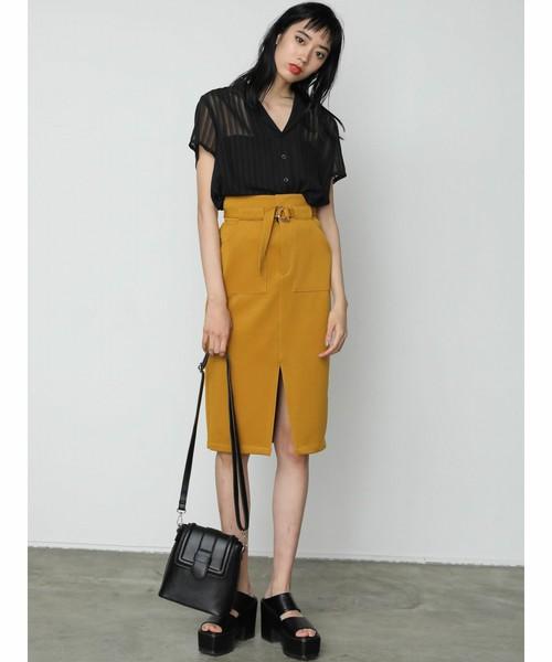 [EMODA] オープンシアーシャツ