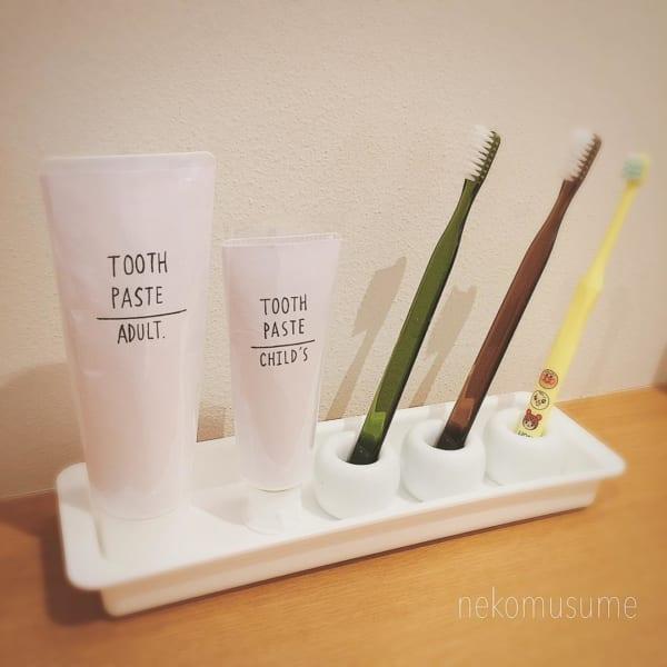 歯ブラシ収納 無印3