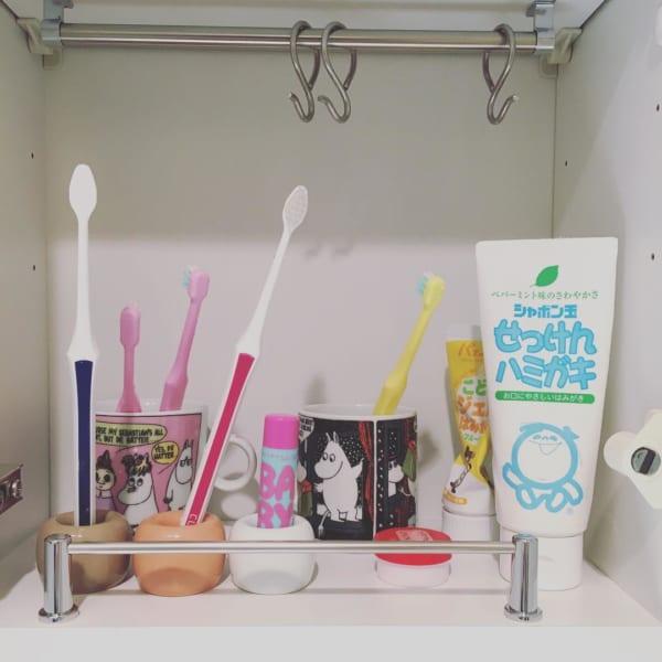 歯ブラシ収納 無印4