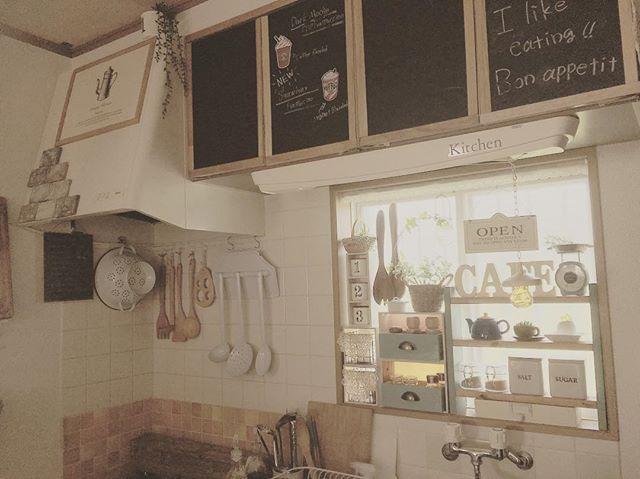 キッチンに黒板