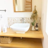 オシャレな「造作洗面台」♪ 毎日使う洗面所を気分の上がる空間にしませんか?