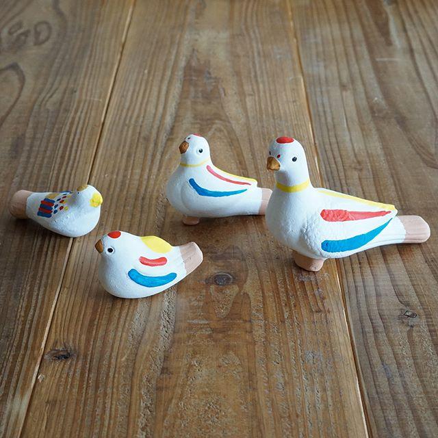 カラフルな鳩笛