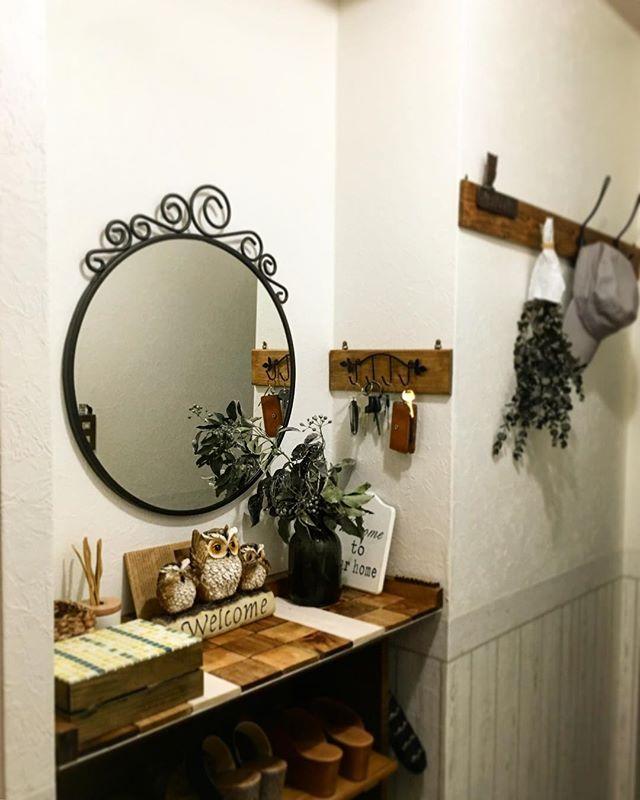 玄関 鏡2