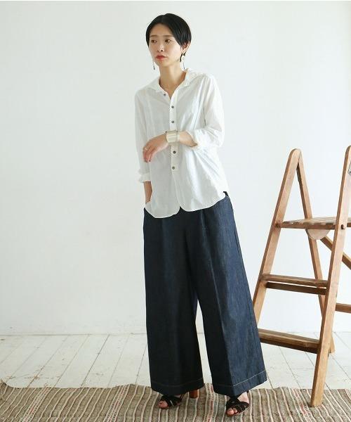 [NOMBRE IMPAIR] ルーズコットン イタリアンカラーシャツ