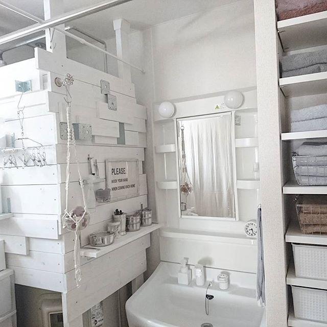 洗面所収納アイデア61