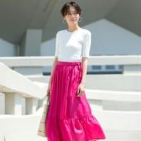 ピンクスカートを使ったコーデ50選♡ほんのり甘さの光るコーデを楽しもう♪