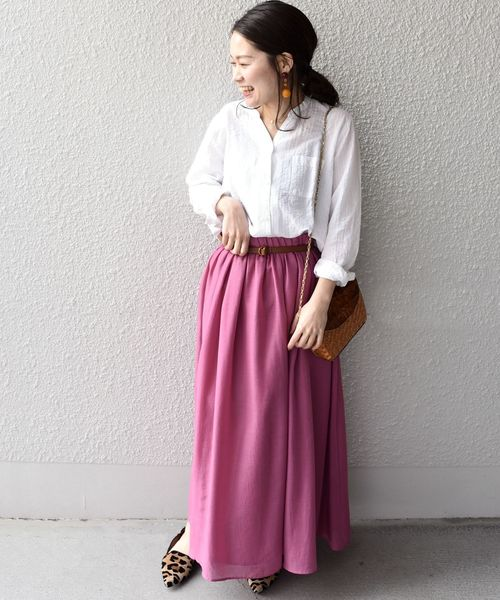 [SHIPS for women] SHIPS Days STANDARD:スキッパーシャツ 18SS◇