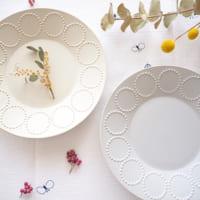 北欧食器で暮らしを彩る『mina perhonen・タンバリンのテーブルウェア』がある食卓風景☆