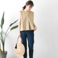 夏のベージュ系トップスコーデ15選♡ヌーディーなカラーで上品きれいめスタイルを作ろう