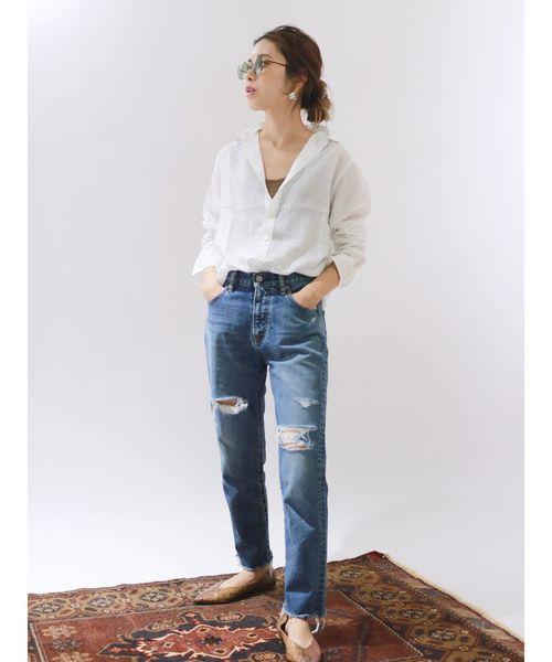 [Ungrid] テンセルローンシャツ