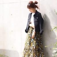 秋は大人可愛い花柄が着たい♡花柄のワンピース&スカートで作る大人レトロコーデ!
