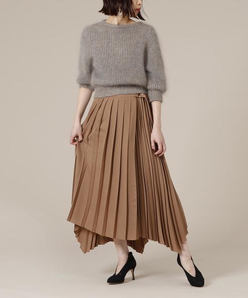 [martinique] martinique/アシンメトリーランダムプリーツスカート