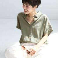 そろそろ秋感アップ♡アースカラーの襟つきシャツ&ブラウスのきれいめ夏コーデ15選