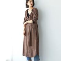 初秋ファッションにプラスしたい!ロングシャツワンピースを着こなすスタイリング集