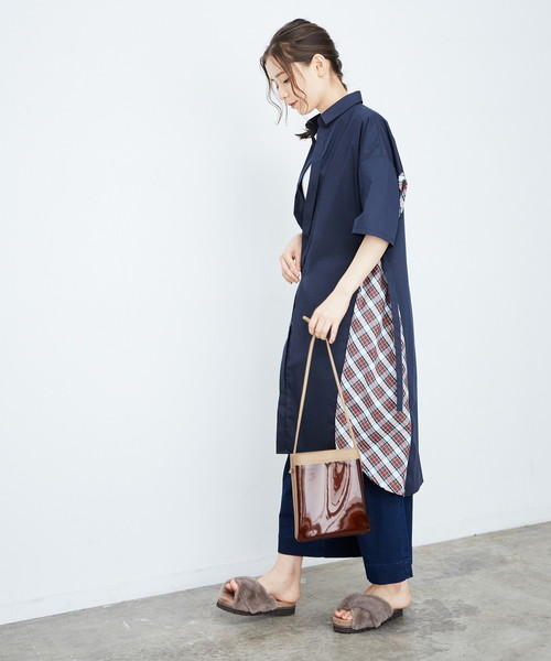 [ROPE' PICNIC] 【HOUSE of TARTAN】ロングシャツワンピース