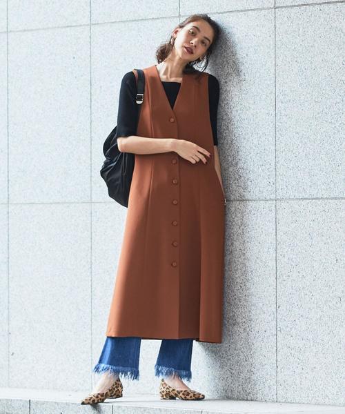 【予約】BY フロントボタンジャンパースカート