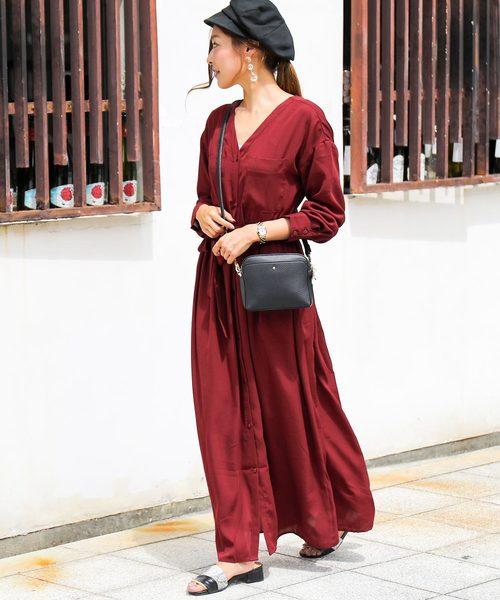 [Fashion Letter] ガウンシャツワンピース