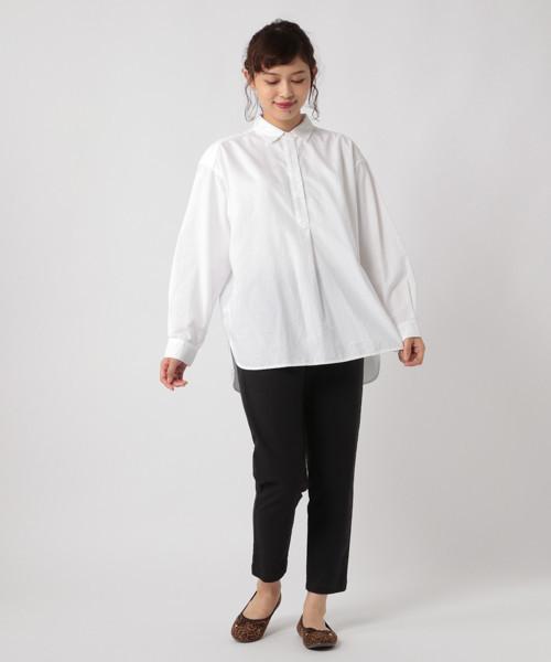 [studio CLIP] ソフトオックスチュニックシャツ[WEB限定大きいサイズ]