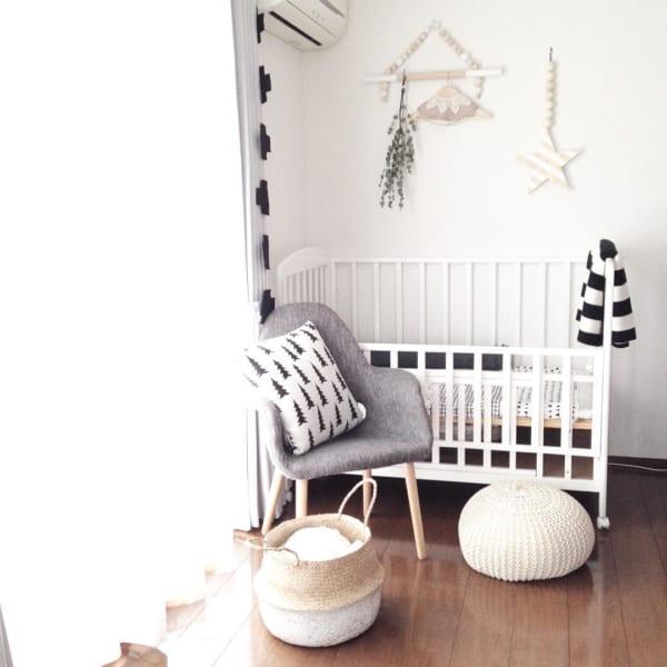 赤ちゃんのお部屋 モノトーンインテリア