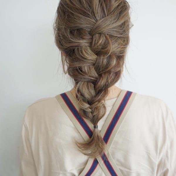 編み込み やり方 大人女性3