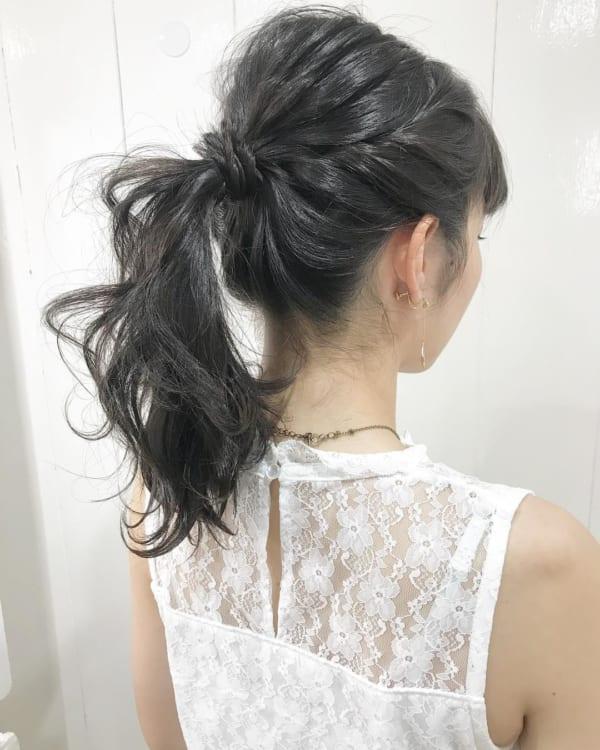 編み込み やり方 大人女性6