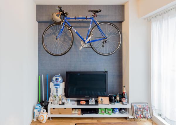 自転車もオブジェのように