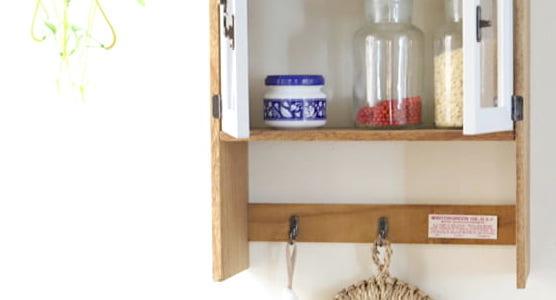 【連載】100均材料だけで収納力たっぷりなキッチンシェルフを作ろう!