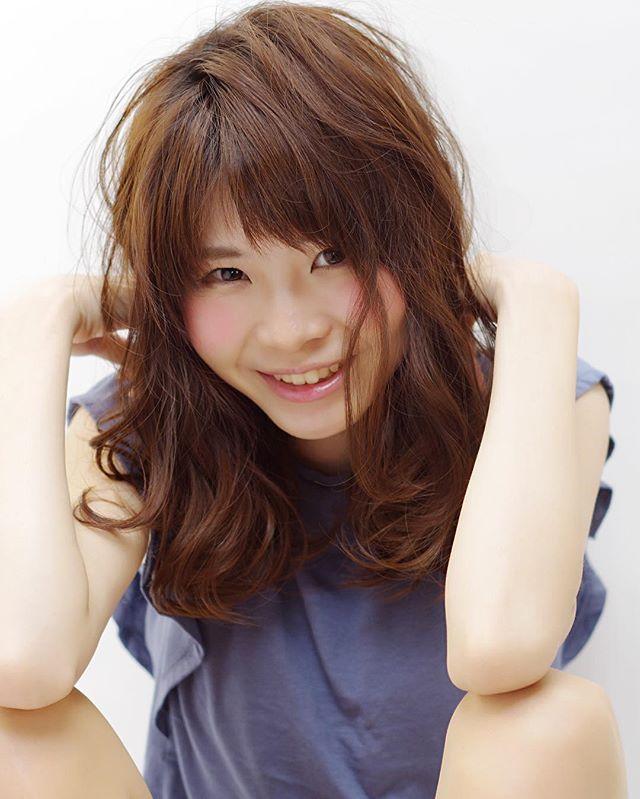【長さ別】ぱっつん前髪ヘアスタイル3