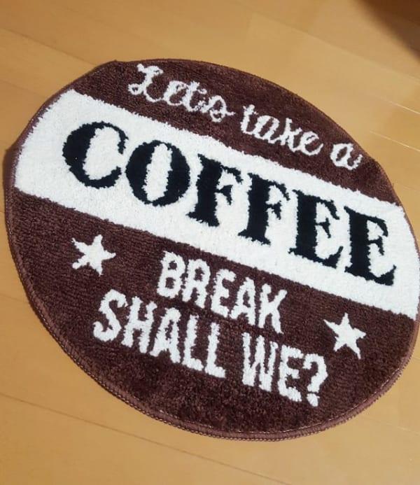 カフェ風ラウンドマット
