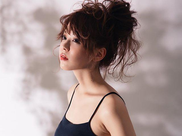 前髪の流し方1