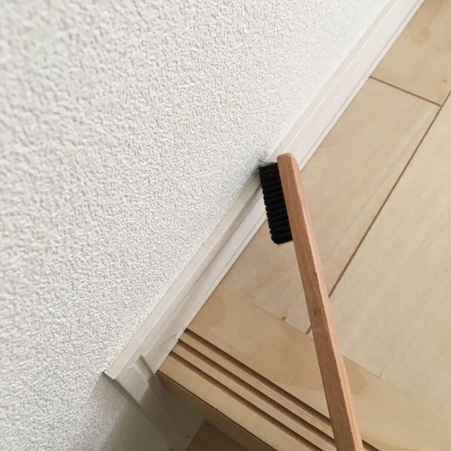 木製の隙間ブラシ